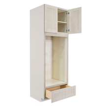 Load image into Gallery viewer, Lancaster Stone Wash Tall Double Oven Cabinet 2 Upper Doors and 1 Lower Drawer