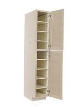 Load image into Gallery viewer, Lancaster Stone Wash Tall Pantry 1 Upper Door and 1 Lower Door