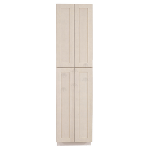 Lancaster Stone Wash Tall Pantry 2 Upper Doors and 2 Lower Doors