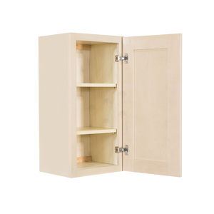 Lancaster Stone Wash Wall Cabinet 1 Door 2 Adjustable Shelves 30-inch Height