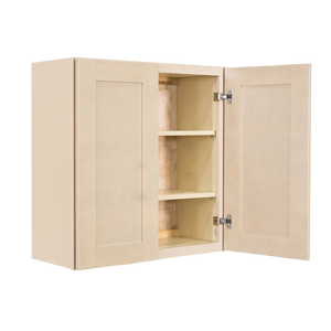 Lancaster Stone Wash Wall Cabinet 2 Doors 2 Adjustable Shelves With 30-inch Height