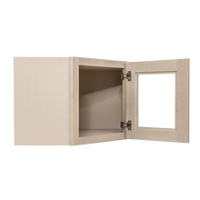 Load image into Gallery viewer, Lancaster Stone Wash Wall Diagonal Mullion Door Cabinet 1 Door No Shelf Glass Not Included