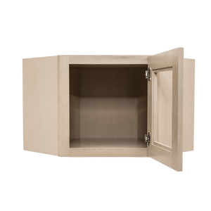 Lancaster Stone Wash Wall Diagonal Mullion Door Cabinet 1 Door No Shelf Glass Not Included