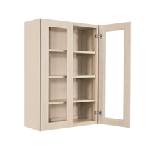 Load image into Gallery viewer, Lancaster Stone Wash Wall Mullion Door Cabinet 2 Doors 3 Adjustable Shelves Glass not Included