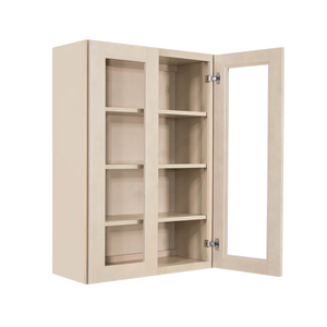 Lancaster Stone Wash Wall Mullion Door Cabinet 2 Doors 3 Adjustable Shelves Glass not Included