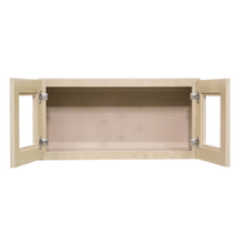Load image into Gallery viewer, Lancaster Stone Wash Wall Mullion Door Cabinet 2 Doors No Shelf Glass Not Included