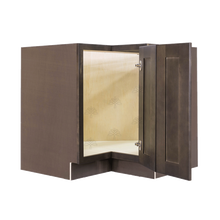 Load image into Gallery viewer, Lancaster Vintage Charcoal Lazy Susan Base Cabinet 2 Full Height Folding Doors