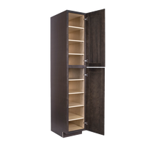 Load image into Gallery viewer, Lancaster Vintage Charcoal Tall Pantry 1 Upper Door and 1 Lower Door