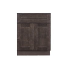 Load image into Gallery viewer, Lancaster Vintage Charcoal Vanity Sink Base Cabinet 1 Dummy Drawer 2 Doors