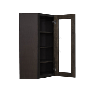 Lancaster Vintage Charcoal Wall Diagonal Mullion Door Cabinet 1 Door 3 Adjustable Shelves Glass not Included