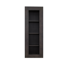 Load image into Gallery viewer, Lancaster Vintage Charcoal Wall Mullion Door Cabinet 1 Door 3 Adjustable Shelves Glass not Included