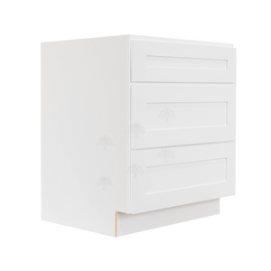 Lancaster Shaker White Base Drawer Cabinet 3 Drawers