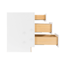 Load image into Gallery viewer, Lancaster Shaker White Base Drawer Cabinet 3 Drawers