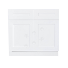 Load image into Gallery viewer, Lancaster Shaker White Sink Base Cabinet 2 Dummy Drawers 2 Doors