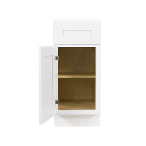 Lancaster Shaker White Base Cabinet 1 Drawer 1 Door 1 Adjustable Shelf