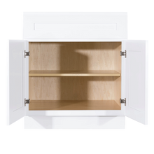 Load image into Gallery viewer, Lancaster Shaker White Base Cabinet 1 Drawer 2 Doors 1 Adjustable Shelf