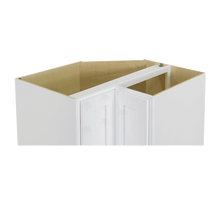 Load image into Gallery viewer, Lancaster Shaker White Lazy Susan Base Cabinet 2 Full Height Folding Doors