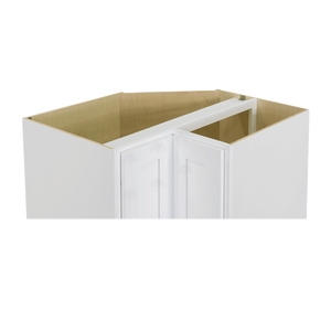 Lancaster Shaker White Lazy Susan Base Cabinet 2 Full Height Folding Doors
