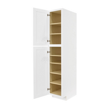 Load image into Gallery viewer, Lancaster Shaker White Tall Pantry 1 Upper Door and 1 Lower Door
