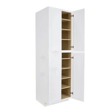 Load image into Gallery viewer, Lancaster Shaker White Tall Pantry 2 Upper Doors and 2 Lower Doors