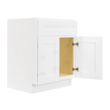 Load image into Gallery viewer, Lancaster Shaker White Vanity Sink Base Cabinet 1 Dummy Drawer 2 Doors