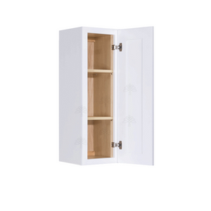 Lancaster Shaker White Wall Cabinet 1 Door 2 Adjustable Shelves 36-inch Height