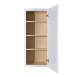 Lancaster Shaker White Wall Cabinet 1 Door 3 Adjustable Shelves