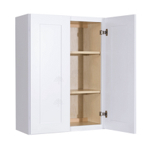 Load image into Gallery viewer, Lancaster Shaker White Wall Cabinet 2 Doors 2 Adjustable Shelves