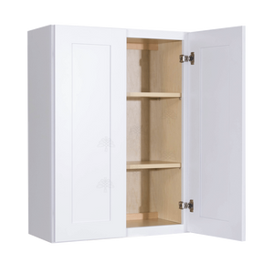Lancaster Shaker White Wall Cabinet 2 Doors 2 Adjustable Shelves