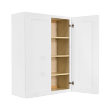 Load image into Gallery viewer, Lancaster Shaker White Wall Cabinet 2 Doors 3 Adjustable Shelves