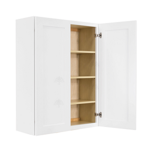 Lancaster Shaker White Wall Cabinet 2 Doors 3 Adjustable Shelves