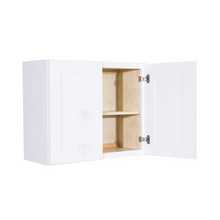 Load image into Gallery viewer, Lancaster Shaker White Wall Cabinet 2 Doors 1 Adjustable Shelf