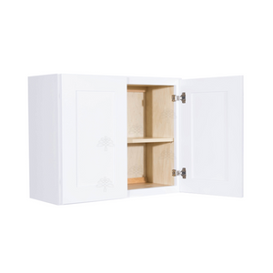 Lancaster Shaker White Wall Cabinet 2 Doors 1 Adjustable Shelf
