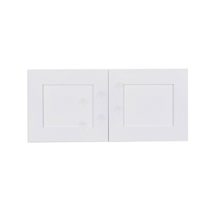 Lancaster Shaker White Wall Cabinet 2 Doors No Shelf 24inch Depth