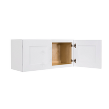 Load image into Gallery viewer, Lancaster Shaker White Wall Cabinet 2 Doors No Shelf 24inch Depth