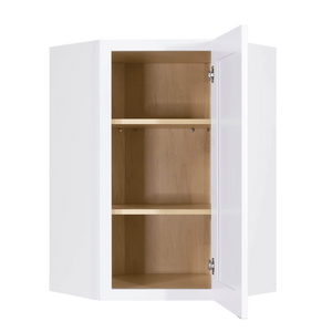 Lancaster Shaker White Wall Diagonal Corner 1 Door 2 Adjustable Shelves