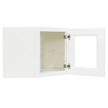 Load image into Gallery viewer, Lancaster Shaker White Wall Diagonal Mullion Door Cabinet 1 Door 3 Adjustable Shelves Glass not Included