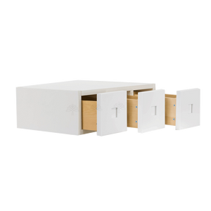 Lancaster Shaker White Wall Small Drawer Cabnet 3 Drawers