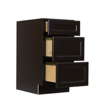 Load image into Gallery viewer, Newport Espresso Vanity Drawer Base Cabinet 3 Drawers