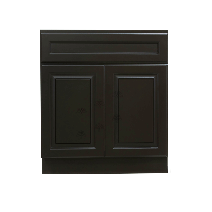 Newport Espresso Vanity Sink Base Cabinet 1 Dummy Drawer 2 Doors