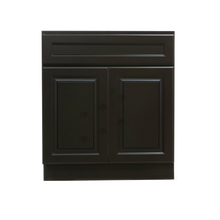 Load image into Gallery viewer, Newport Espresso Vanity Sink Base Cabinet 1 Dummy Drawer 2 Doors
