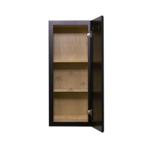 Load image into Gallery viewer, Newport Espresso Wall Cabinet 1 Door 2 Adjustable Shelves
