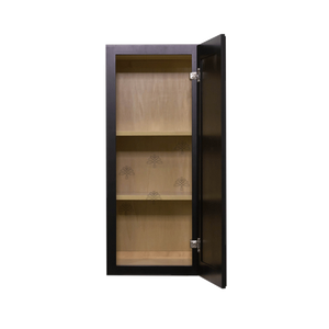 Newport Espresso Wall Cabinet 1 Door 2 Adjustable Shelves