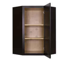 Load image into Gallery viewer, Newport Espresso Wall Diagonal Corner 1 Door 2 Adjustable Shelves