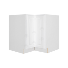 Load image into Gallery viewer, Newport White Lazy Susan Base Cabinet 2 Full Height Folding Doors