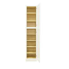 Load image into Gallery viewer, Newport White Tall Pantry 1 Upper Door and 1 Lower Door