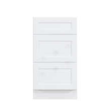 Load image into Gallery viewer, Newport White Vanity Drawer Base Cabinet 3 Drawers