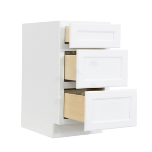 Newport White Vanity Drawer Base Cabinet 3 Drawers