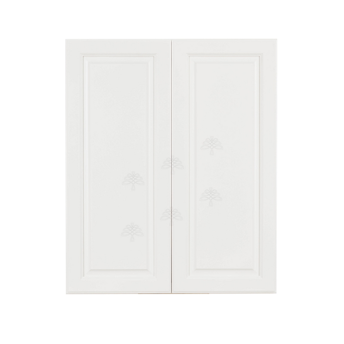Newport White Wall Cabinet 2 Doors 2 Adjustable Shelves
