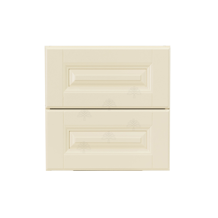 Oxford Series Creamy White Finish Cabinet Counter Top Drawer